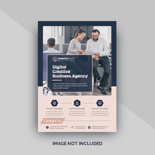 Sjabloon folder voor digitale agentschap Premium Vector