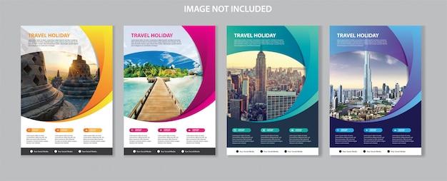 Sjabloon folder voor zakelijke brochure cover Premium Vector