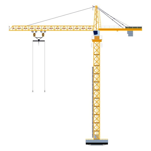 Sjabloon met bouwtoren Premium Vector