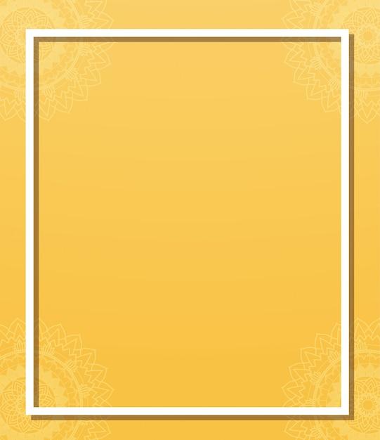 Sjabloon met mandala-patronen Gratis Vector