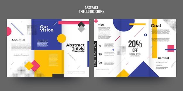 Sjabloon voor abstract brochure Gratis Vector