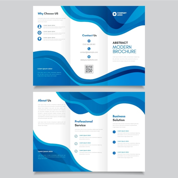 Sjabloon voor abstract driebladige brochure Gratis Vector