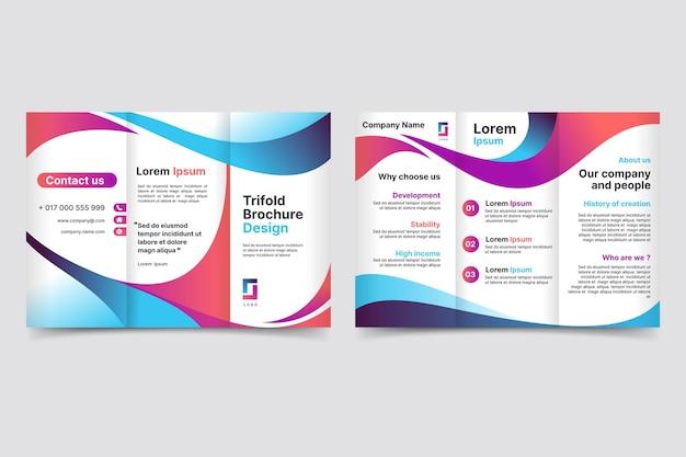 Sjabloon voor abstract driebladige brochure Gratis Vector