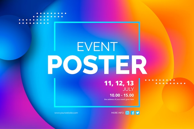 Sjabloon voor abstract evenement poster Gratis Vector