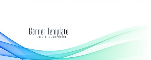 Sjabloon voor abstract golvende banner stijlvolle Gratis Vector