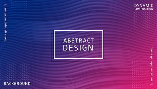 Sjabloon voor abstract gradiënt dynamische achtergrond Premium Vector