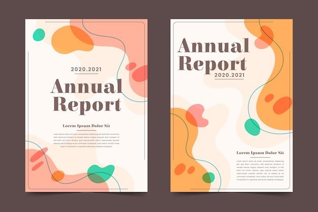 Sjabloon voor abstract jaarverslag Gratis Vector