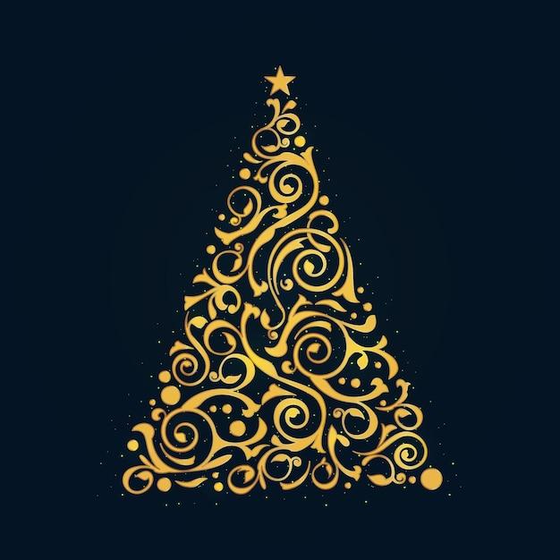 Sjabloon voor abstract kerstboom Gratis Vector