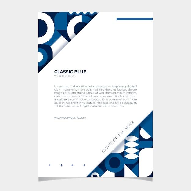 Sjabloon voor abstract klassiek blauw poster Gratis Vector