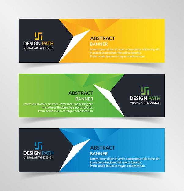 Sjabloon voor abstract kleurrijke banners Premium Vector