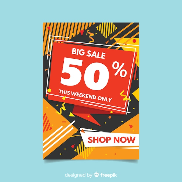Sjabloon voor abstract moderne verkoop flyer Gratis Vector