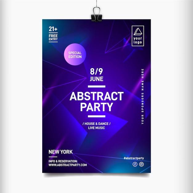 Sjabloon voor abstract muziekfestival poster Gratis Vector