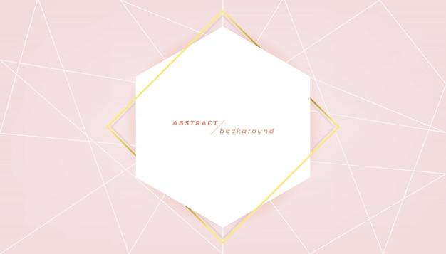 Sjabloon voor abstract spandoek op roze achtergrond. Premium Vector