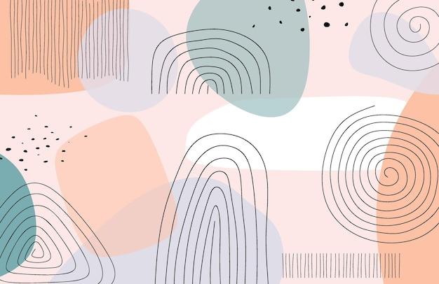 Sjabloon voor abstract trendy universele artistieke achtergrond. Premium Vector
