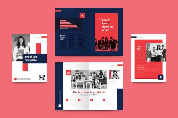 Sjabloon voor abstract tweevoudige brochure Gratis Vector