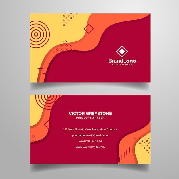 Sjabloon voor abstract visitekaartjes met logo Gratis Vector