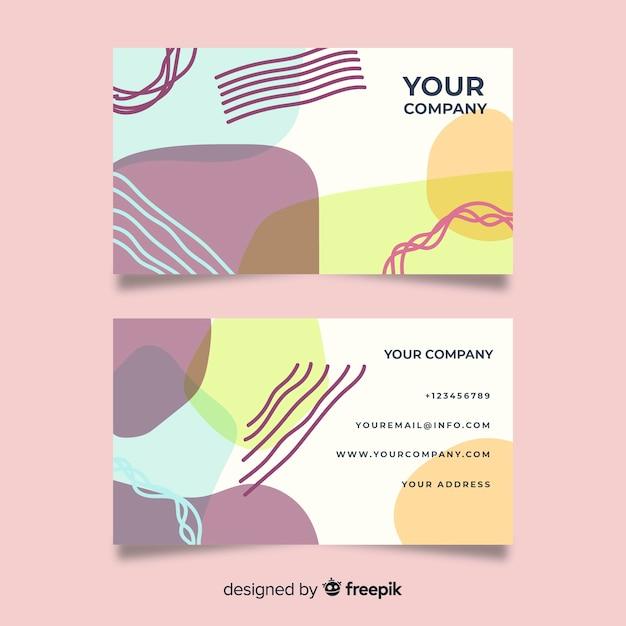 Sjabloon voor abstract visitekaartjes Gratis Vector
