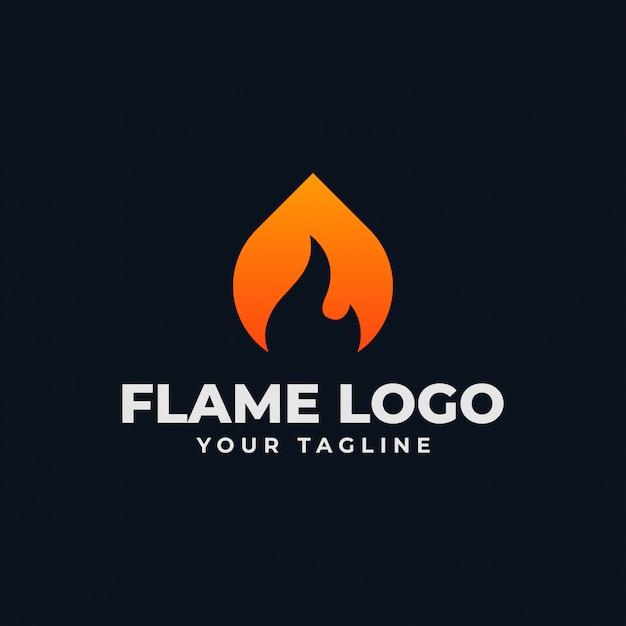 Sjabloon voor abstract vlam-logo Premium Vector