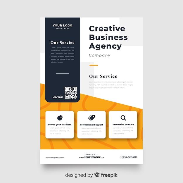 Sjabloon voor abstract zakelijke flyer presentatie Gratis Vector