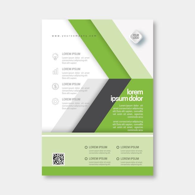 Sjabloon voor abstract zakelijke folder Gratis Vector