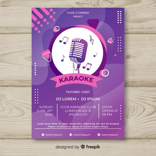 Sjabloon voor abstracte live muziek poster Gratis Vector