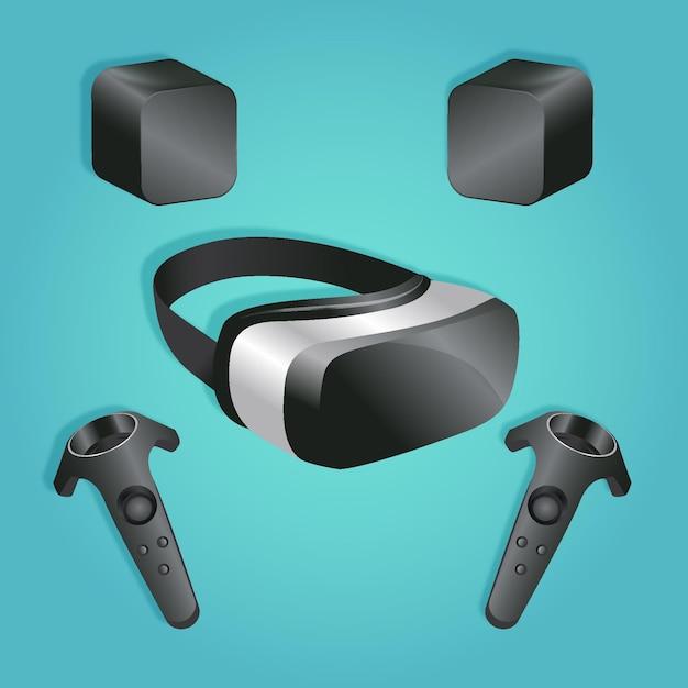Sjabloon voor apparatuur voor virtuele realiteit Gratis Vector