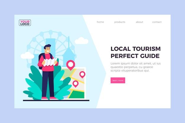 Sjabloon voor bestemmingspagina's voor lokaal toerisme Gratis Vector