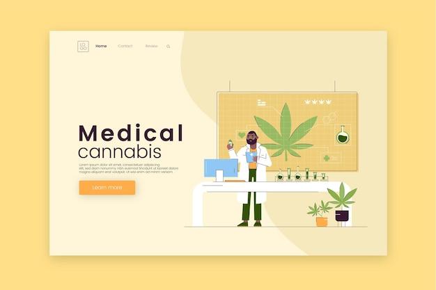 Sjabloon voor bestemmingspagina voor medicinale cannabis Gratis Vector