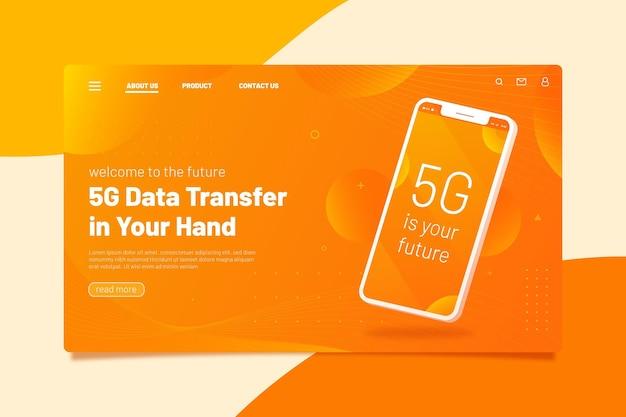Sjabloon voor bestemmingspagina voor smartphone-presentatie Gratis Vector