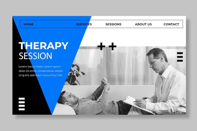Sjabloon voor bestemmingspagina voor therapiesessies Gratis Vector