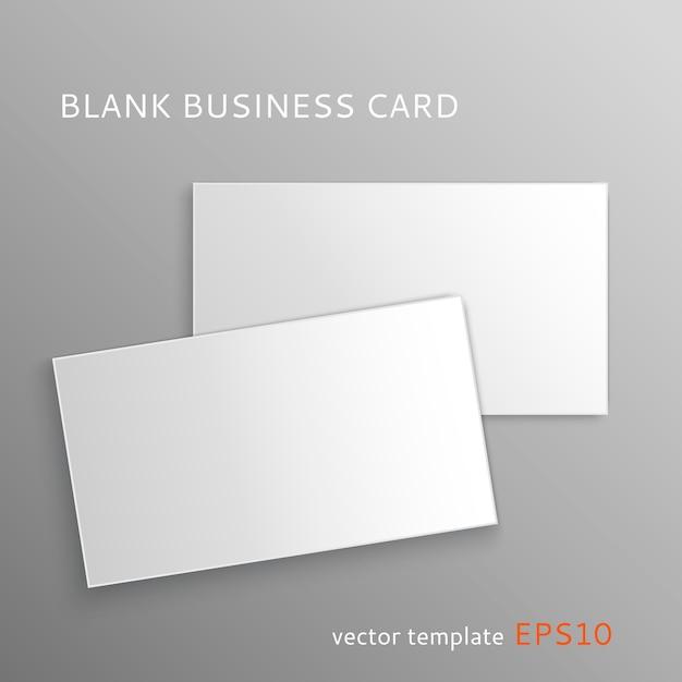 Sjabloon voor blanco visitekaartjes Premium Vector
