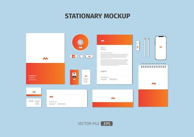 Sjabloon voor briefpapier Premium Vector