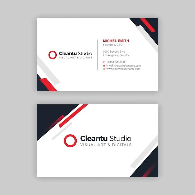 Sjabloon voor creatief visitekaartjes Premium Vector