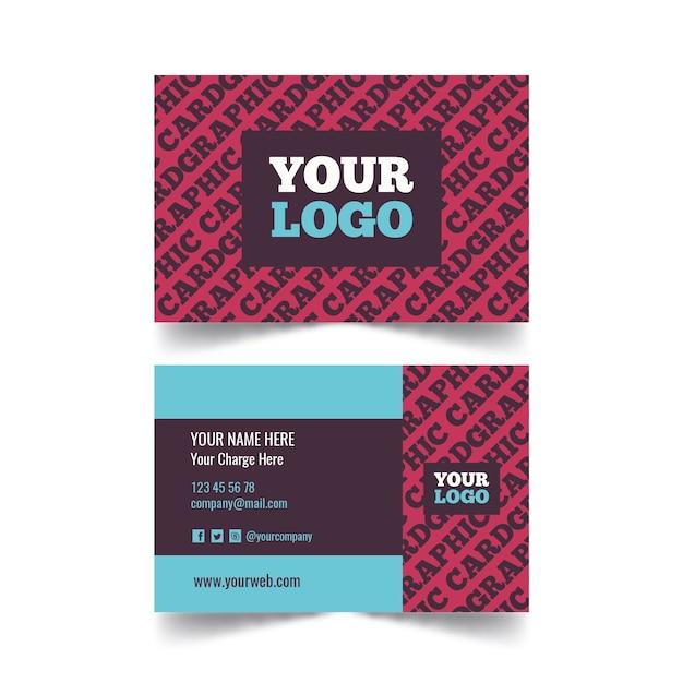 Sjabloon voor creatieve grafisch ontwerper visitekaartjes Gratis Vector