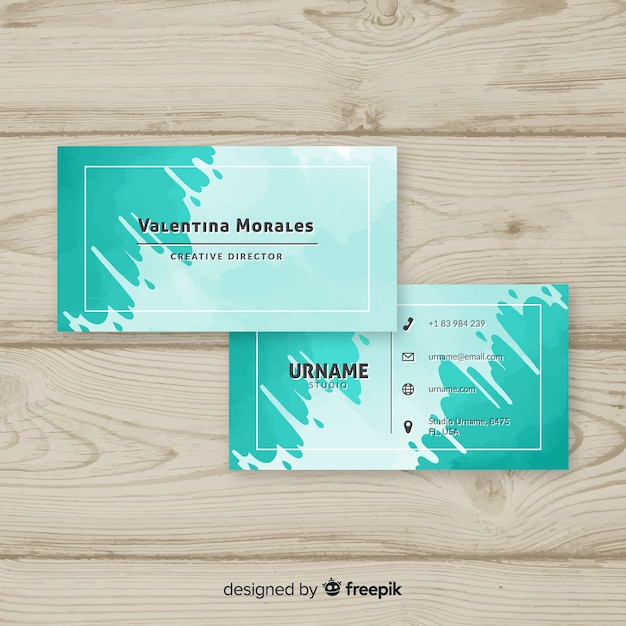 Sjabloon voor creatieve visitekaartjes Gratis Vector