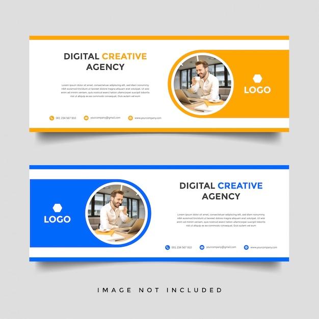 Sjabloon voor creatieve zakelijke spandoek Premium Vector
