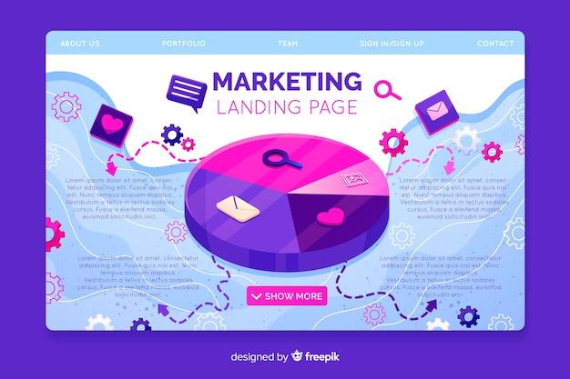 Sjabloon voor digitale marketing bestemmingspagina Gratis Vector
