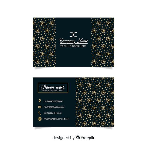 Sjabloon voor donkere elegante visitekaartjes Gratis Vector
