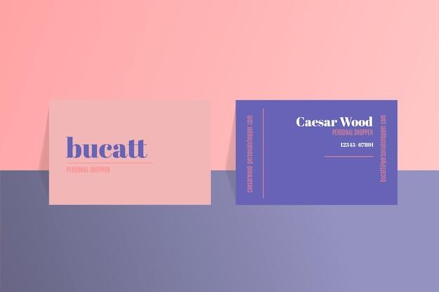 Sjabloon voor eenvoudige visitekaartjes in twee kleuren Gratis Vector