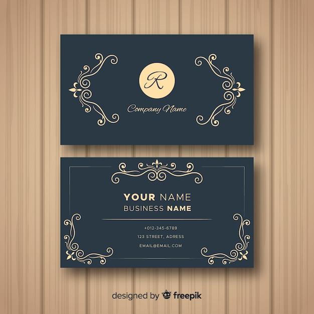 Sjabloon voor elegant visitekaartje Gratis Vector