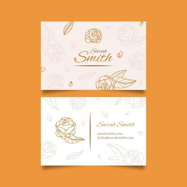 Sjabloon voor elegante visitekaartjes Gratis Vector