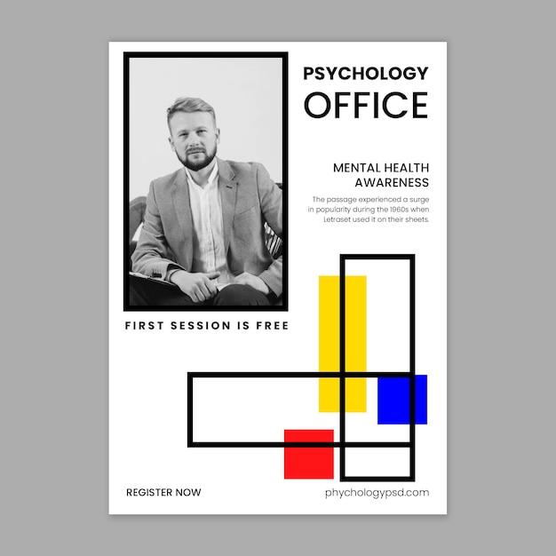 Sjabloon voor folder van psychologie kantoor Gratis Vector