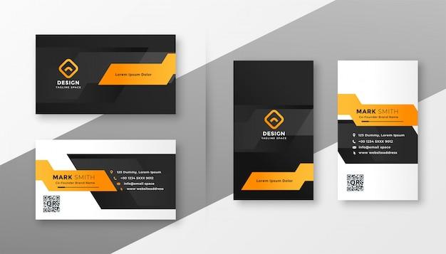 Sjabloon voor geometrische oranje visitekaartjes Gratis Vector