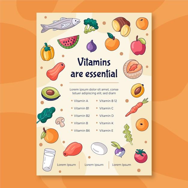 Sjabloon voor gezonde voeding promotie flyer Gratis Vector