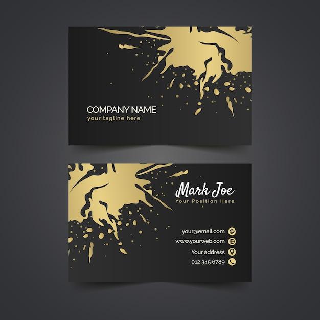 Sjabloon voor gouden vlekken-visitekaartjes Gratis Vector