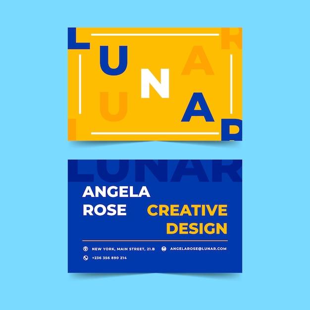 Sjabloon voor grappige kleurrijke grafisch ontwerper visitekaartjes Gratis Vector