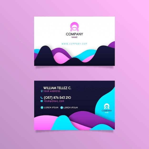 Sjabloon voor kleurrijk abstract visitekaartjes Gratis Vector