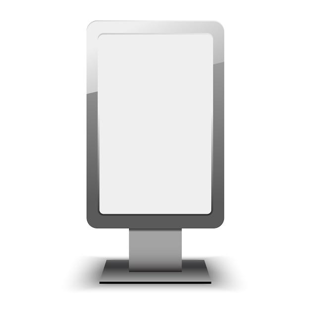 Sjabloon voor lege stad lightbox. leeg reclamebord en buitenreclame sjabloon. element in. Premium Vector