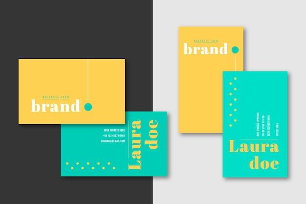 Sjabloon voor minimale visitekaartjes branding Gratis Vector