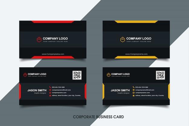 Sjabloon voor modern visitekaartjes Premium Vector